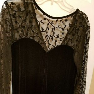 Elegant velvet dress